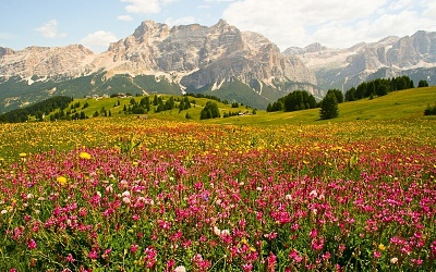 Landschaft in Alta Badia